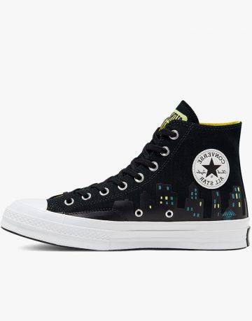 Black High Tops Converse Batman Shoes