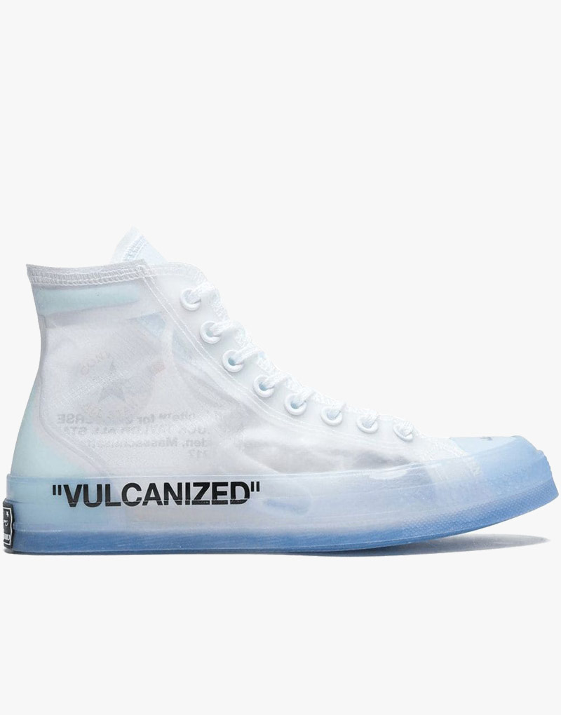 Converse Off White Translucent Upper Chuck Taylor Shoes