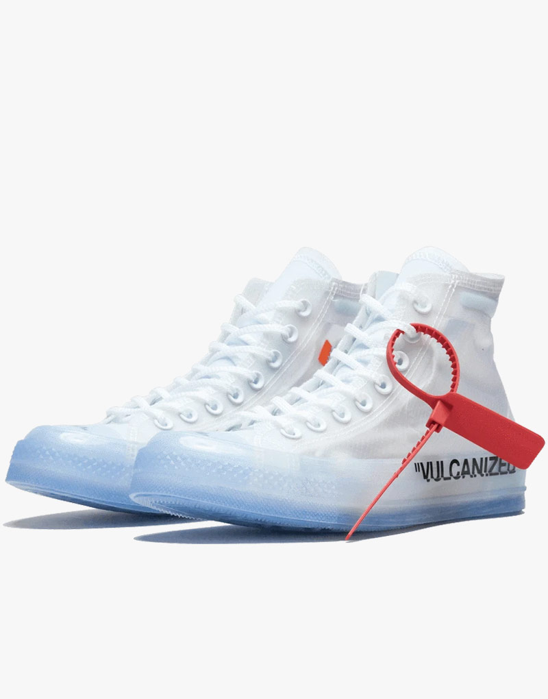 Converse High Tops Off White Translucent Upper Shoes