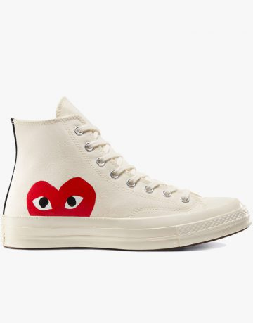 All Star Converse Comme Des Garcons Play High Top White